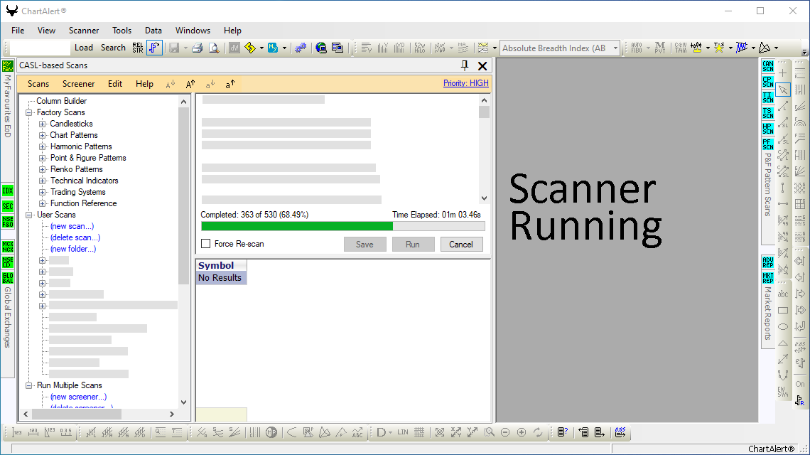 Advanced Scanner Running